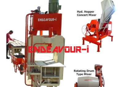 Manual Concrete Paver Block Machine - Hydraulic Press Type
