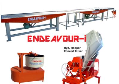 Manual Concrete Paver Block Machine - Vibrating Table Type